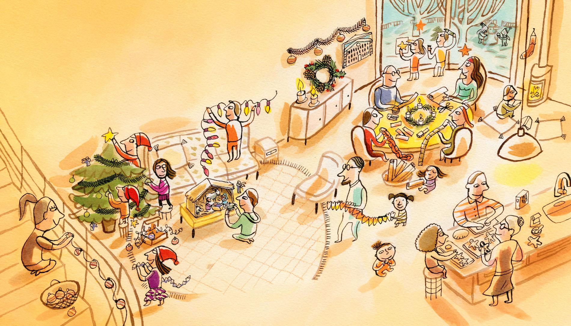 Illustration pour le magazine Pomme d'api Soleil édité par Bayard Presse