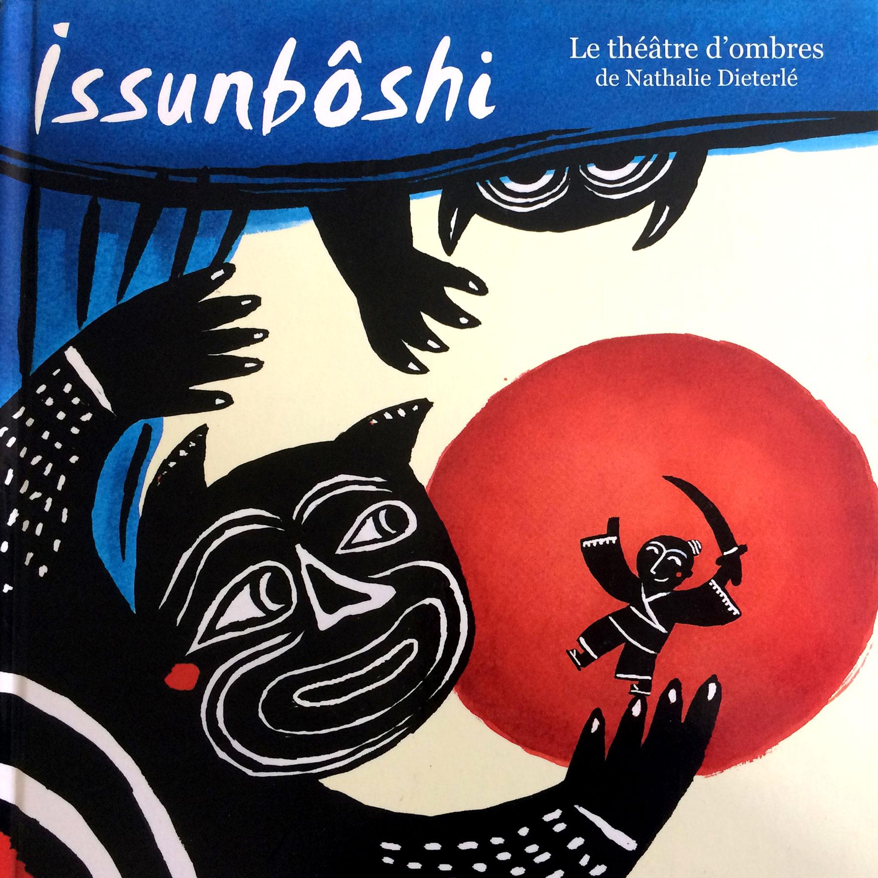 """Livre Théatre d'ombres """"Issunboshi"""" crée par Nathalie Dieterlé édité par les éditions Casterman"""