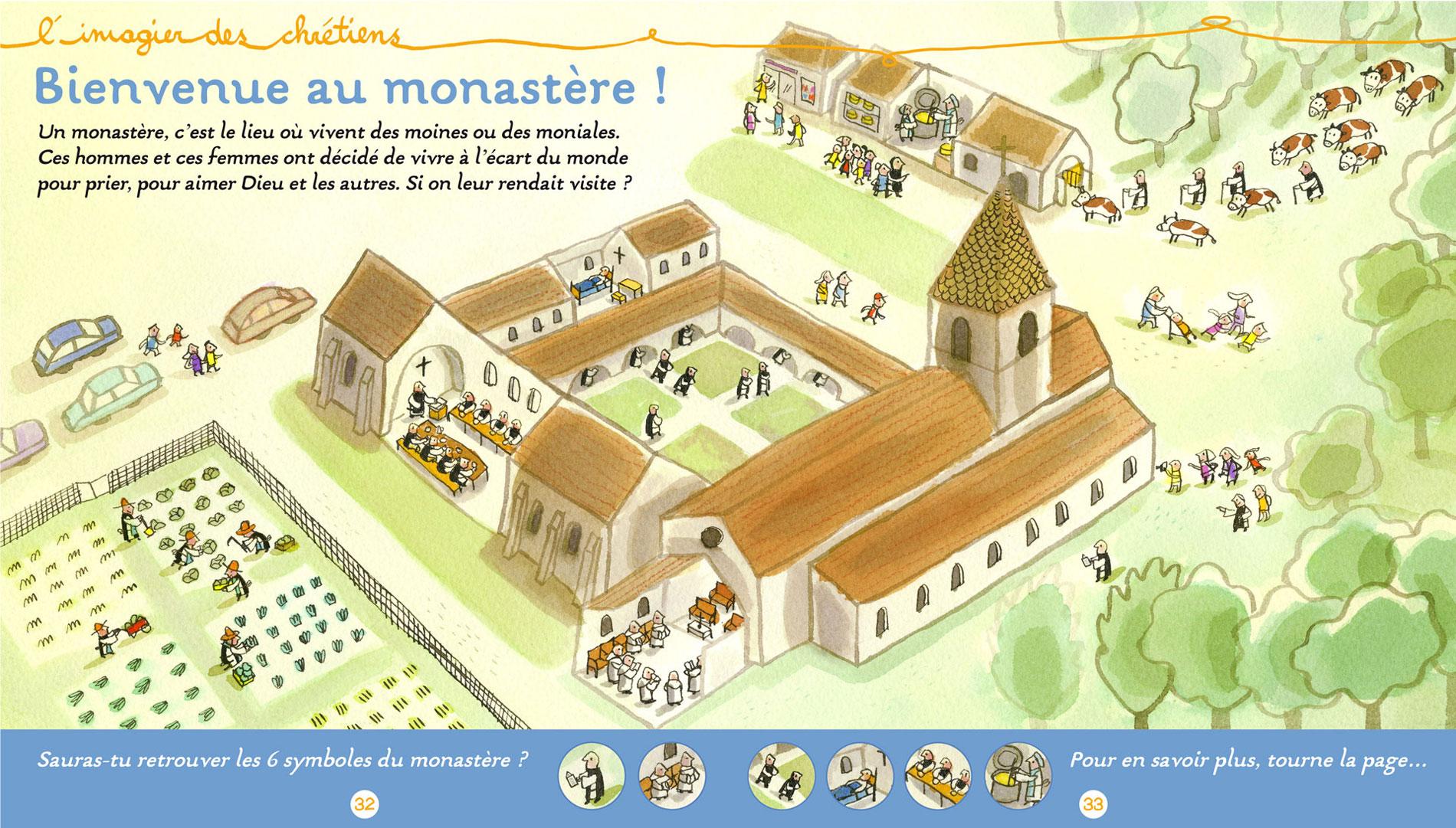 Illustration de nathalie Dieterlépour le magazine Pomme d'api Soleil édité par Bayard presse