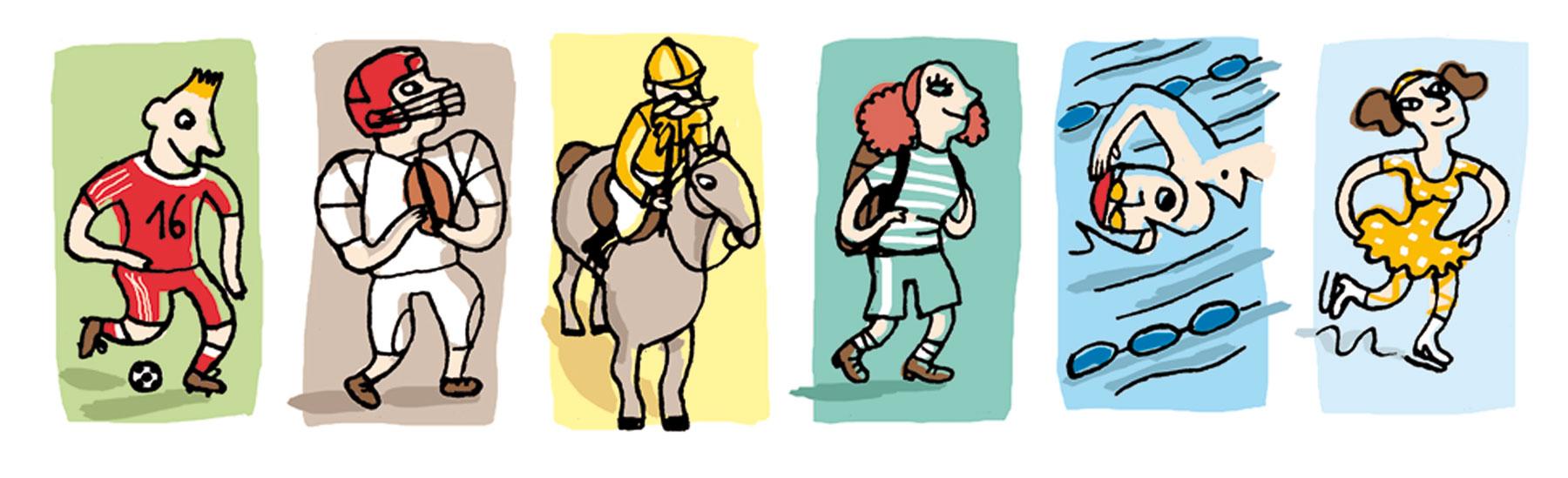 Illustration de Nathalie Dieterlé pour le Besherelle pour apprendre l'anglais des éditions Hatier