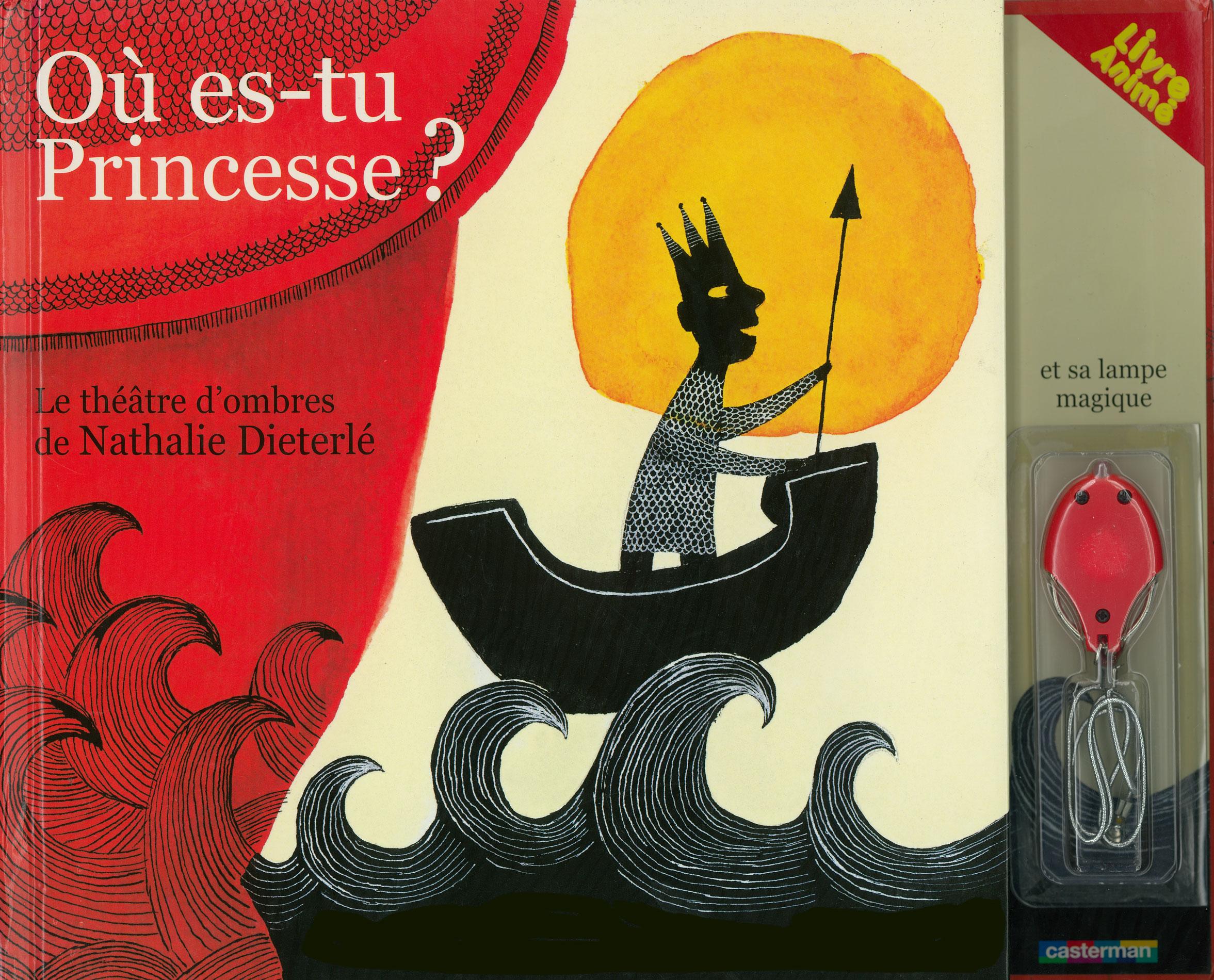Livre théatre d'ombres pour enfants conçu et illustré par Nathalie Dieterlé. Des ombres chinoises sont projettés à l'interieur du livre grâce à une lampe de poche.