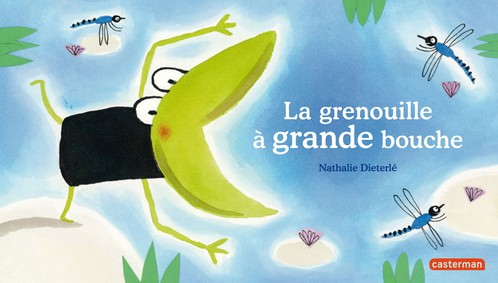 La grenouille à grande bouche est un album jeunesse écrit et illustré par Nathalie Dieterlé et édité aux éditions Casterman