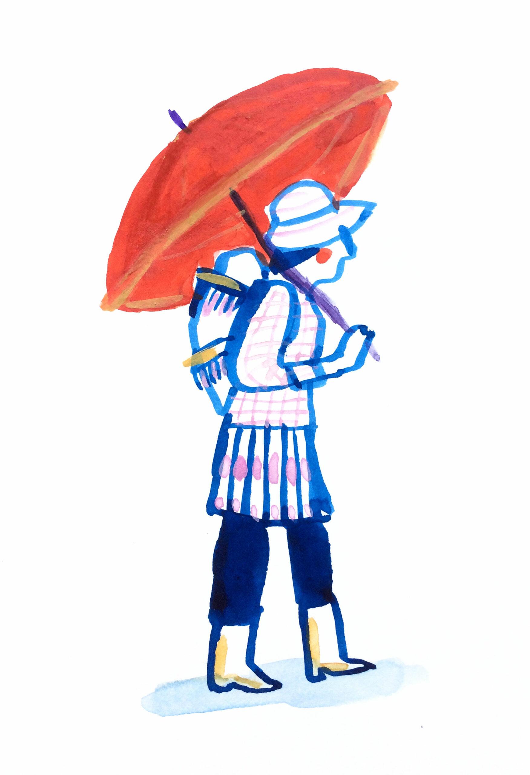 croquis d'une femme au vietnam réalisé par l'illustratrice Nathalie Dieterlé