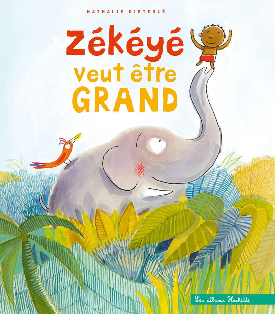 """""""Zékéyé veut être grand"""" est un livre écrit et illustré par Nathalie Dieterlé et édité chez Hachette Enfant. C'est la nouvelle aventure du héros africain Zékéyé qui existe depuis 30 ans."""